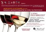 Slowfood: degustazione vini Abruzzo